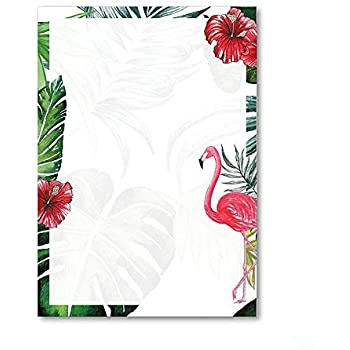 Briefpapier Set Flamingo I 50 Blatt Motiv-Papier in DIN A4