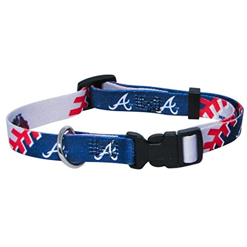 MLB Atlanta Braves Adjustable Pet Collar, XX-Small, Team
