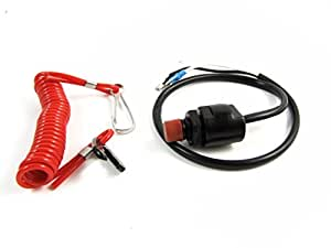 Universal Boat Outboard Engine Motor Kill Stop Switch