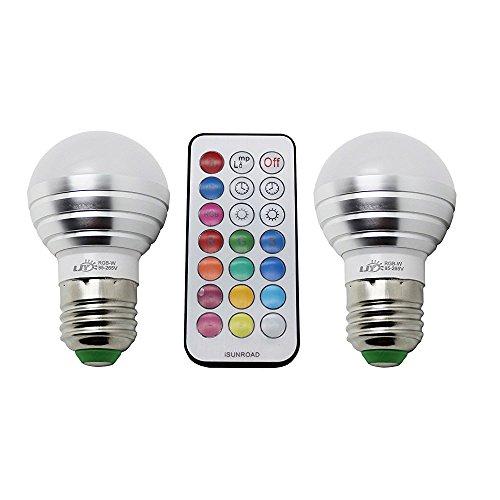 LJY 2-Pack E27 3W RGBW Cambiare colore del LED &