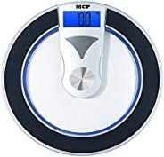 MCP Digital Personal Weighing Machine for Human Body Weight Bathroom Weighing Scale (Thick Toughened Glass)