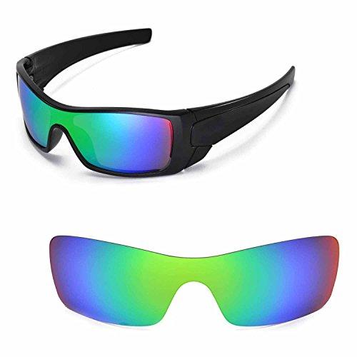 Walleva Ersatzgläser für Oakley Batwolf Sonnenbrille - Mehrfache Optionen (Smaragd - polarisiert) (Sonnenbrille Oakley Batwolf)
