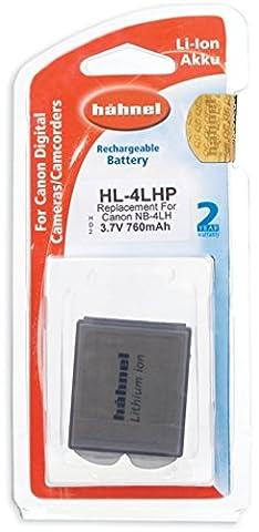 Hahnel HL-4LHP Batterie Li-Ion Equivalente canon NB-4L 3,7 V 760