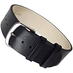 Apollo Replacement Band drawstring Leather Kalf black leather 22455S, width:16mm