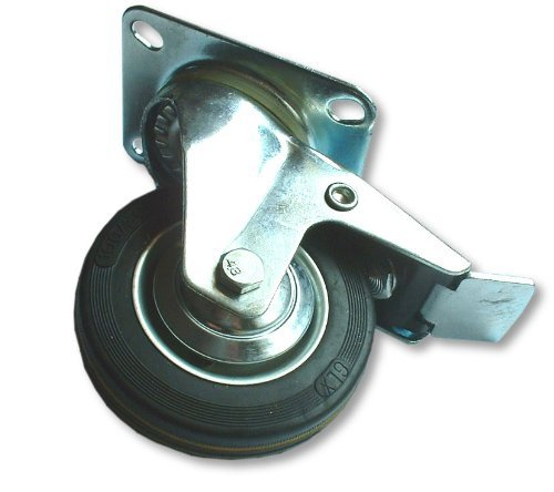 "Toolzone Swivel Castors With Brake - 125mm (5"") Test"