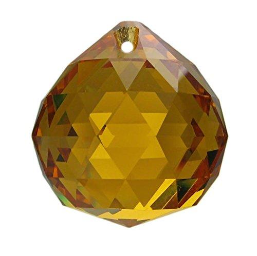 Boule de cristal jaune topaze (k9) diamètre 30mm