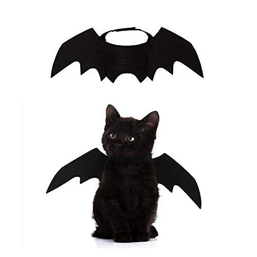 AUOKER Katzen-Kostüm für Halloween, Fledermausflügel, Haustierkostüm, Kleidung, Kleine Hunde, Coole Fledermausflügel, Cosplay-Kostüm, Zubehör für Halloween, Urlaub, Mottoparty (Die Den Kostümen Halloween-katze, In)