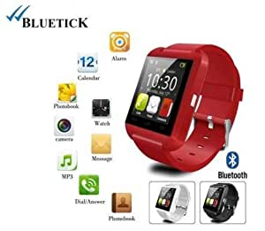 Bluetick U8 Smart watch for Android IOS iphone Samsung Galaxy HTC (Red)