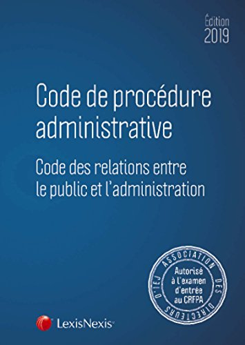 Code de procédure administrative 2019 par collectif