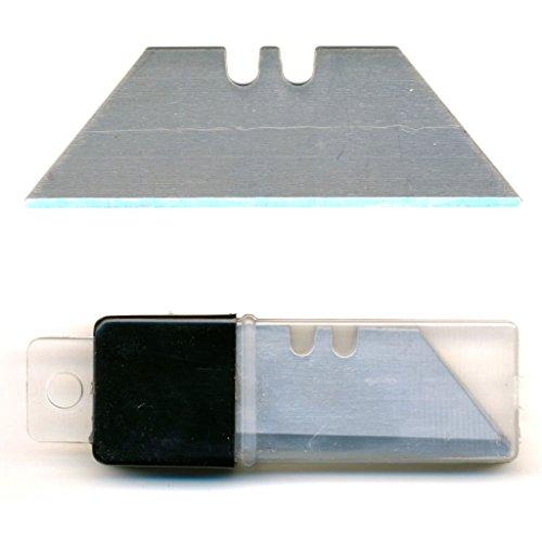 Preisvergleich Produktbild 50 Stück Trapezklingen ohne Loch, Ersatzklingen für Teppichmesser, eisgehärtet