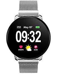 GOKOO Smart Watch for Men Women with All-Day Heart Rate Blood Pressure Full Touchscreen Stopwatch Sleep Monitor Waterproof Calorie Counter