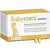 BabyFORTE Omega 3-60 Kapseln - DHA + EPA Omega 3 Fischölkapseln - ideale Ergänzung zu BabyFORTE Kinderwunsch & FolsäurePlus - Schwangerschaftsvitamine