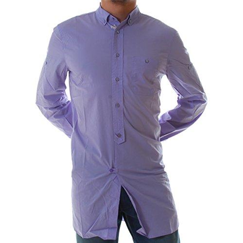 Diesel -  Camicia Casual  - Uomo Viola lilla Small