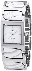 GO Girl Only 694160 - Reloj analógico de cuarzo para mujer con correa de metal, color blanco de GO Girl Only