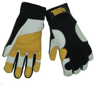 Tillman 14902X 2X Black, Gold And Pearl TrueFit Full Finger Top Grain Goatskin Super Premium Mechanics Gloves With Elastic Cuff, Nylon Spandex Back, Goatskin Double Palm And Thumb, Reinforced Fingertips And Additional Padding (1/PR) by John Tillman and Co (Top-grain-pearl)