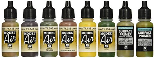 Vallejo Model Air Imperial Japanese Army Acrylic Paint set for Air Brush - colori assortiti (confezione da 8)