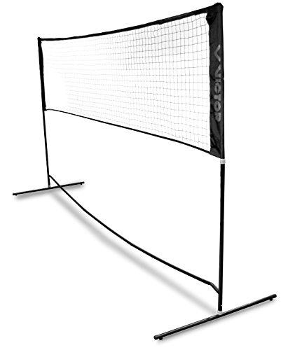 Victor Badmintonnetz - Tennisnetz faltbar und höhenverstellbar mit Gestell - 300 cm breit