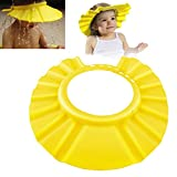 ChannelExpert gelb Weich Sicher Baby Dusche Badeschutz Shampoo Kappe Schild Hut Schutz Sichere Shampoo-Dusche Bade Bad Schützen Weiche Mütze Hut für Baby Kind