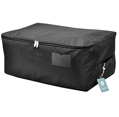 Saisonale Kleidung Aufbewahrungstasche, Tröster/Bettwäsche / Quilt/Kissen Lagerung Veranstalter Tasche, schwarz (Tasche Tröster Bettwäsche)