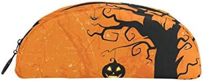 Bonipe citrouille d'Halloween chauve-souris Chouette Arbre Arbre Arbre Trousse Stylo Sac étui support Porte-monnaie Maquillage pour Trave Bureau | Boutique En Ligne  478c9b