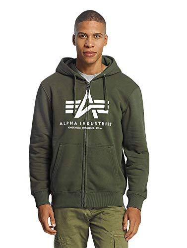 Alpha Industries Basic Zip Hoodie Oliv L