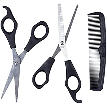 ewinever(TM) 1set Hair Cutting \u0026 Thinning Scissors Shears Hairdressing Set  Comb Thinner Styling