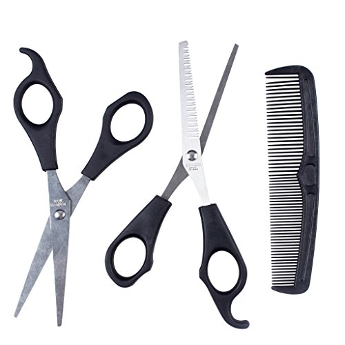 1set Haar-Ausschnitt & Effilierschere Schere Friseur-Set Comb Thinner Styling