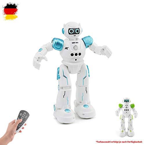 Himoto HSP RC Ferngesteuerter intelligenter Roboter mit Akku und Fernsteuerung, Tanz-, Musik- und Demo-Funktion, Gestensteuerung und Hinderniserkennung, Modell mit LED's