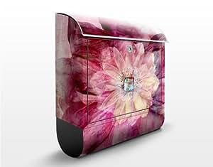 Design Briefkasten Grunge Flower 39x46x13cm