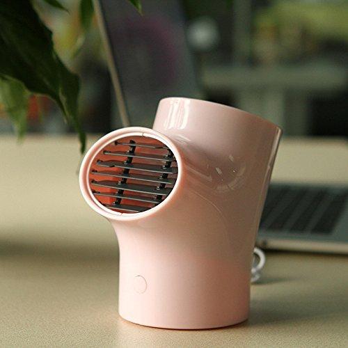 ZHH MINI USB Creative Aromatic Fan - Mini Escritorio Ventilador pequeño Silent Computer Fan Enviar novia,Rosado,Ventilador de d