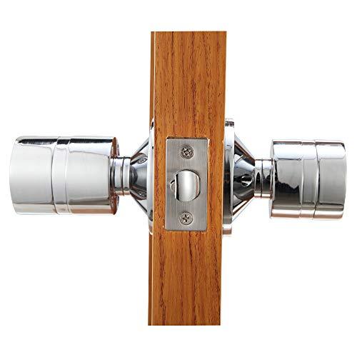 Cerradura inteligente Sin llave Cerraduras de puerta Bloqueo electrónico del teclado Bluetooth para entrada y monitoreo en vivo, con llave mecánica de respaldo (plateada)