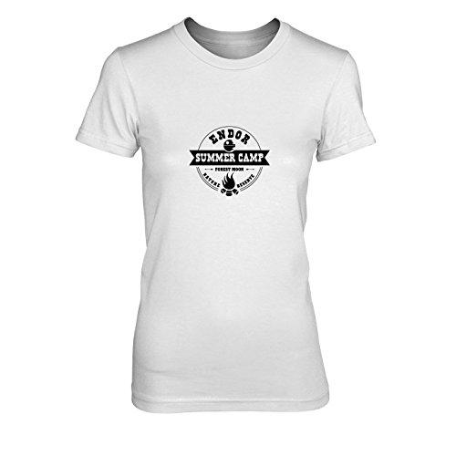 SW: Endor Summer Camp - Damen T-Shirt, Größe: XL, Farbe: weiß