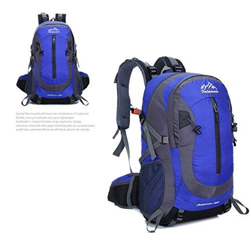 40l Il nuovo marchio del professionista arrampicata all'aperto borsa sportiva borsa da viaggio sacchetto di acqua di guida repellente blu