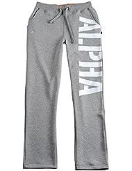 Alpha industries X-FIT BIG PRINT STRAIGHT PANT - grey heather