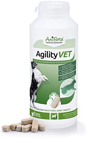 AniForte Gelenktabletten für Hunde AgilityVet - 300 natürliche Gelenk Tabletten mit Grünlippmuschel, Teufelskralle, Kollagen, Glucosamin, Chondroitin, Hyaluronsäure, Hohe Akzeptanz beim Hund