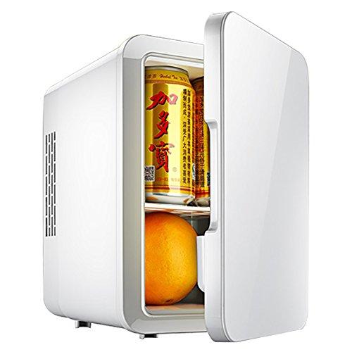 DULPLAY Weiß Auto Kühlschrank,Mini-Kühlschrank, 4l Fassungsvermögen Kühler & Wärmer Geringes Rauschen Für Zuhause, Büro und Auto Kühler und Kühlschrank-4L 25x24x18cm(10x9x7inch)