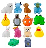 #2: Babytintin High Quality Non-Toxic Soft Chu Chu Mix Animal Bath Toys Set of 14 PCS Multi-Color
