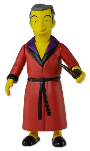 NECA 16001 Simpsons 25th Anniversary Series 1 Hugh Hefner Figura, Rojo/Amarillo, 5 Pulgadas 1