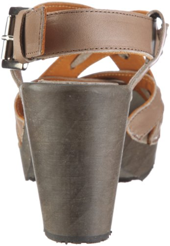 Swissoccoli Holzsandalette 2091 Damen Clogs & Pantoletten Grau/Tannico Stone
