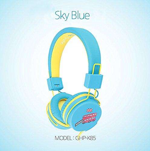 Goon Draht faltbar Kid Sicher über die Ear Gehörschutz Kopfhörer, Kopfhörer für Kinder (Skyblue)