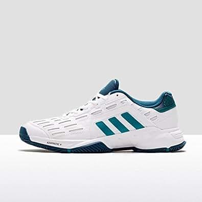 adidas Barricade Court 2, Chaussures de Tennis Homme, Blanc/Vert (Blanc Footwear/Vert Équipement/Minéral), 43 1/3 EU