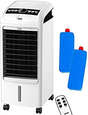 MYLEK Viento Portable Air Cooler for Home with Remote Control & LCD Display - Timer Function, 3 Speeds, 3 Wind Settings & Oscillation