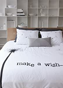 walra bettw sche make a wish 100 baumwolle wei 200 220 2x60 70cm wei k che. Black Bedroom Furniture Sets. Home Design Ideas