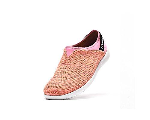 UIN Chaussure de Loafer de poids léger de confort de tricot Verona des femmes Orange