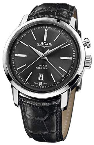 Vulcain Cricket 50s Presidents Herren Uhr analog Handaufzugwerk mit Leder Armband 160151.325L