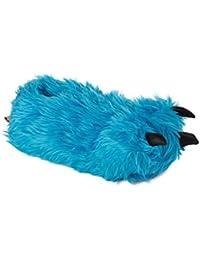Funslippers - Zapatillas de estar por casa zarpa monstruo garra azul para ninos mujer e hombre e adultos