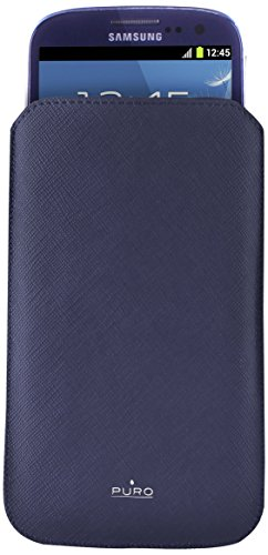 Puro slim essential xl - custodia universale per smartphones, blu