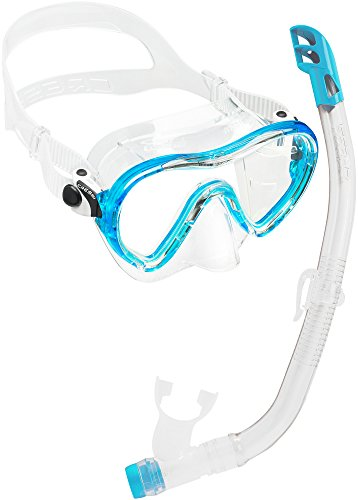 Cressi Sky Jr & Top PREMIUM Combo Set pour Enfant- Transparent/Aquamarine