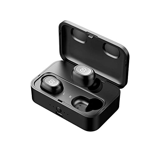 SoundPEATS Bluetooth Kopfhörer Kabellos 55 Stunde In Ear Ohrhörer Bluetooth 5.0 Headset True Wireless Earbuds Sport TWS Mini Earphones mit Mikrofon Q32 - Mini Apple Ipad Ohrhörer