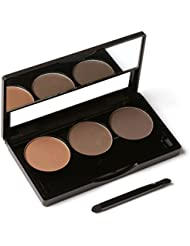 ROMANTIC BEAR Long Lasting Eyebrow Makeup Powder Eye Brow Cosmetic Palette Kit With Brush 3 Colors